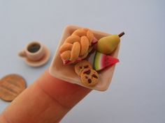 this tiny, fake food looks better than what i actually had for lunch!