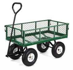 Check out this great image Gorilla Carts Steel Garden Cart with Removable Sides with a Capacity of 400 lb, Green -- Gardening for Beginners Green Garden, Lawn And Garden, Garden Tools, Garden Ideas, Green Lawn, Garden Bed, Garden Supplies, Yard Cart, Outdoor Jobs
