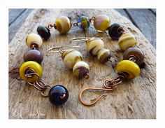 French Marble Earring & Bracelet Set by TheCopperstoneForge