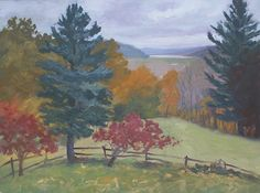 Brookville Lake From Tom and Marty's Deck by Todd Derr Oil ~ 12 x 16