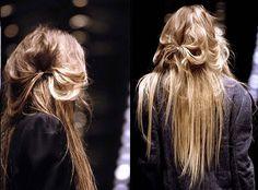 Messy simple hair