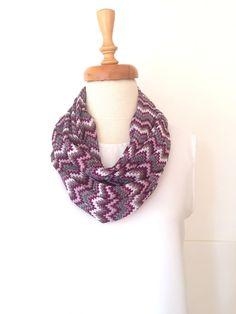 ON SALE Chiffon Scarf Loop Scarf Women Scarf Chevron Scarf Zig-Zag Scarf scarf accessories women scarf tube scarf handmade scarf infinity scarves loop scarf christmas modern scarf purple burgundy chiffon scarf zig zag scarf geometric scarf 20.00 USD #goriani