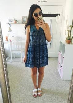 "alexandra-nicole-the-blog: ""Summer #OOTD! Details: Dress (similar), Sandals, Bracelet, Diamond Pendant and Earrings (Jewelers), Sunglasses, Phone Case. """