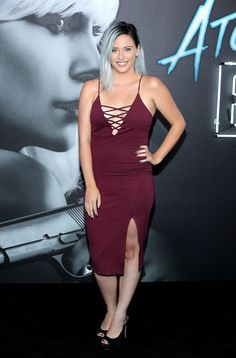 """Youtuber Lily Marston attends Focus Features' """"Atomic Blonde"""" premiere at The Theatre at Ace Hotel on July 24, 2017 in Los Angeles, California."""