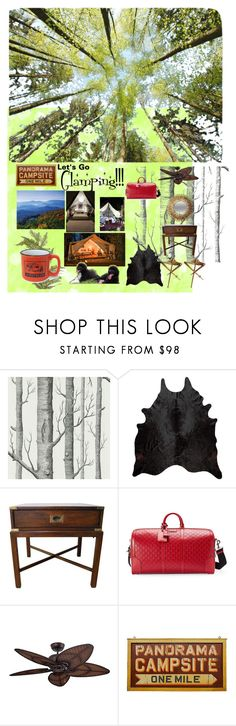 """""""Glamping No. 2"""" by ical-rox ❤ liked on Polyvore featuring interior, interiors, interior design, home, home decor, interior decorating, Cole & Son, Gucci, NDI and glamping"""
