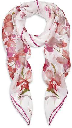 Orchid Silk Scarf - Lyst
