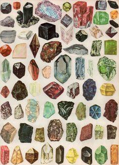 gemz - poster by Brooklyn artist Amber Ibarreche                                http://buyjewelrydeals.com