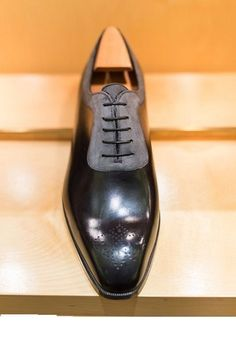 New Handmade Mens forms shoes, Men two tone dress shoes, Men suede and leather - Dress/Formal