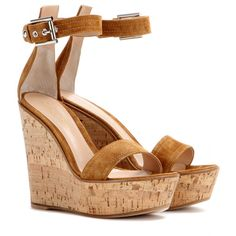 Gianvito Rossi - Suede wedge sandals