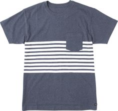 The RVCA New Sins Tee is a relaxed fit, short sleeve jersey with yarn-dye stripes at the chest. The shirt has a patch chest pocket, a RVCA solo label at...