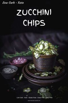 Crunchy and healthy Keto Zucchini Chips made easy in a dehydrator with proven perfect tasty results at all times. Wonderfully flavored and filled with crispiness for your next easy low carb snack. Low Carb Appetizers, Low Carb Desserts, Low Carb Recipes, Real Food Recipes, Jar Recipes, Freezer Recipes, Freezer Cooking, Snacks Recipes, Drink Recipes