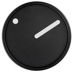Rosendahl: Picto Wall Clock White on Black | NOVA68 Modern Design