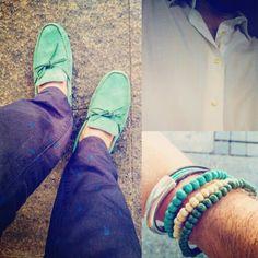 Verano total. Azul navy, blanco y verde