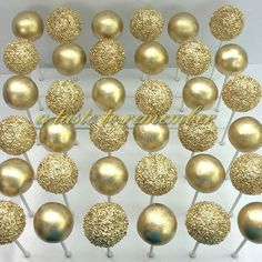 Gold bridal shower cake pops   #allgoldeverything #gold #goldcakepops #sparkleandshine #cakepop #cakepops #instacakepop #instacakepops #cakepopstagram #cake #instacake #cookies #sugarcookies #decoratedcookies #sweet #dessert #sweettooth #followme #candy #lollicakes #cakepopping #tampabrides #tampaweddings #tampaevents #tampabusiness #baker #bakery #floridabaker #allthatglitters