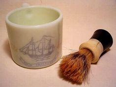 Reminds me of my Dad , the old fashioned shaving cream brush and cup.