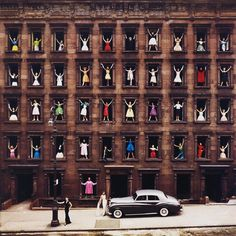 vintagegal:  Girls in the Windows, New York City, photography by Ormond Gigli, 1960