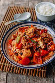 Hunan Pork and Tofu is a classic dish served at many Hunan restaurants throughout China and the US. Hunan-style food, like Sichuan food, features chilis...