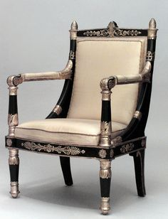 Empire design at its finest. Custom Made Furniture, Hand Painted Furniture, My Furniture, French Furniture, Cabinet Furniture, Classic Furniture, Furniture Styles, Antique Furniture, Furniture Design