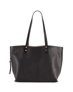 Chloe Dilan East-West Leather Tote Bag, Black earn $300 GC code BESTGC