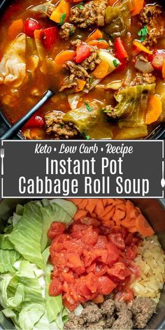 Beef Cabbage Soup, Unstuffed Cabbage Soup, Ground Beef And Cabbage, Crock Pot Cabbage, Soup With Ground Beef, Instapot Recipes Chicken, Beef Soup Recipes, Healthy Beef Recipes, Cabbage Soup Recipes