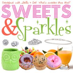 Sweets & Sparkles Stella & Dot trunk show breakfast brunch party