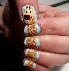 Awesome nail design idea for teacher, kids RN, or a fun mom!