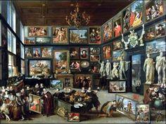 Willem van Haecht, Cabinet d'amateur de Cornelis van der Geest lors de la Visite des Archiducs, 1628