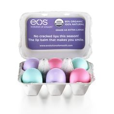 What better way to celebrate Easter than by opening up a carton full of colorful lip balms?