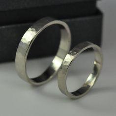 14K Palladium White Gold Perfect Wedding Ring Set