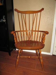 Antique Primitive Colonial Comb Back Fan Windsor Chair Nichols Stone Rare Ebay