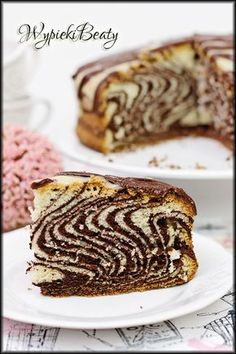 ciasto zebra Polish Desserts, Polish Recipes, Sweet Recipes, Cake Recipes, Dessert Recipes, Food Cakes, Cake Cookies, Sweet Tooth, Sweet Treats