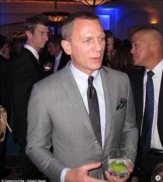 Love the grey suit.