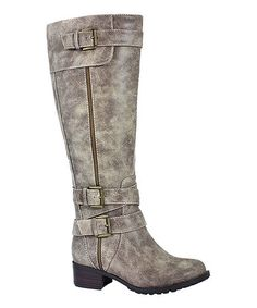 Look what I found on #zulily! Vintage Stone Monaco Extra Wide-Calf Boot #zulilyfinds