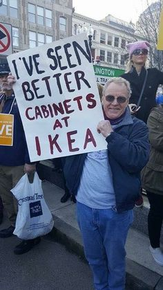 Hey, Ikea's great. Great cabinets, beautiful cabinets. Believe me!