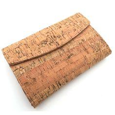 Natural cork women card holde trifold clutch vegan wallet cork leather handmade original wallet from PORTUGAL Card Wallet, Clutch Wallet, Cork Necklace, Necklaces, Vegan Wallet, Handmade Clutch, Wallets For Women, Card Holder, Cards