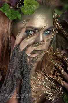 Forest Nymph. Inspirational fairy makeup idea.