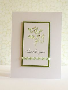 Clean and simple card by Debby Hughes. Nice layout and use of baker's twine.