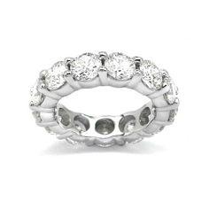 6.00 ct F SI1 ROUND CUT DIAMOND ETERNITY BAND RING PLT http://www.larrysfinejewelryinc.com