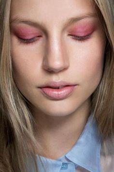 pink. #makeup #eyeshadow #liptint #ElisabethErm #beauty #backstage