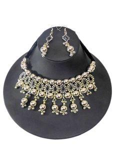 GiftPiper Oxidized Metal Navratri Jewellery Set. Pay COD (Resellers whatsapp 9902488133) -http://www.giftpiper.com/product/oxidized-metal-navratri-jewellery-set-black-beads-tassels
