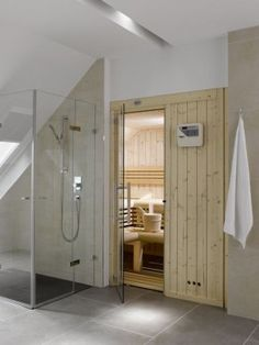 Portable Steam Sauna - We Answer All Your Questions! Home Spa Room, Spa Rooms, Sauna Steam Room, Sauna Room, Sauna Shower, Spa Treatment Room, Sauna Design, Small Loft, Saunas