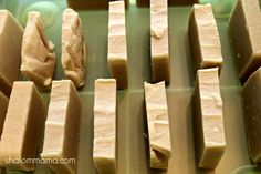 homemade bar soap (shalom mama) - good recipe