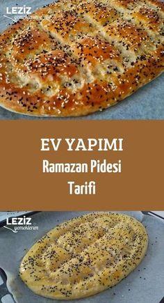 Homemade Ramadan Pita Recipe - My Delicious Food - Pizza Recipes Pita Recipes, Vegetarian Recipes, Cooking Recipes, Turkish Recipes, Ethnic Recipes, Ramadan Recipes, Middle Eastern Recipes, Iftar, Bread Baking
