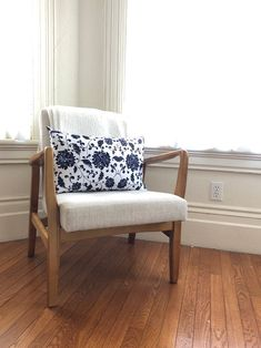 Owen Jones Lumbar // Chinoiserie Pillow // Decorative Pillow // Dark Blue Pillow Chinoiserie, Pillow Inserts, Pillow Covers, Owen Jones, Blue Pillows, Satin Fabric, Lumbar Pillow, Print Patterns, Accent Chairs
