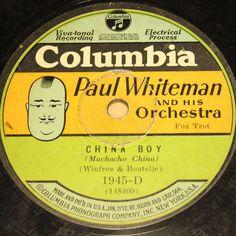 "PAUL WHITEMAN  China Boy & Oh Miss Hannah  Columbia Special Lbl. 78rpm 10""   #78rpm #Schellackplatte"