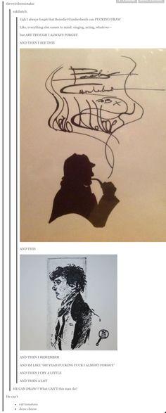Benedict Cumberbatch can draw, too.