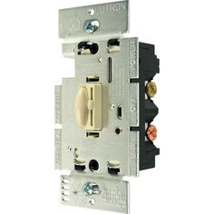 Trademark Commerce Q-603P-IV Lutron Qoto Dimmer & Switch 600W 3-Way - Ivory