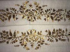 """19th c ANTIQUE OTTOMAN-TURKISH GOLD METALLIC HAND EMBROIDERY ON COTTON TOWEL N2 FOR SALE • $290.00 • See Photos! Money Back Guarantee. You are viewing an attractive example of embroidery. I'm offering a lovely """"towel'' Origin: Turkey Example from the: Ottoman period / 19th centuryColourway of the fabric : ecru It is 122699566112"""