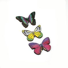 CIJ 10 OFF  Green Butterfly Brooch Wood por LaurasJewellery en Etsy, £13.50