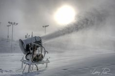 Chilly temps are perfect for snowmaking. Steamboat Resort in Steamboat Springs, Colorado.